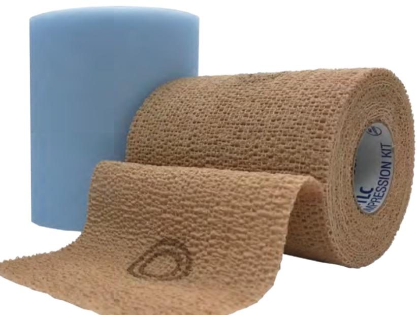 CoFlex TLC® – dviejų sluoksnių tvarstis kompresinei terapijai, edemoms gydyti, su vizualiniu uždėjimo indikatoriumi